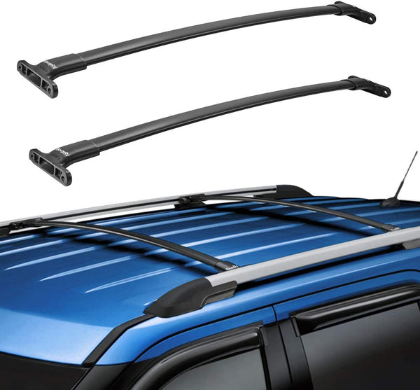 2016-2019 Ford Explorer with Side Rails Aluminum Roof Rack Cross Bars - BougeRV