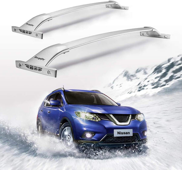 2014-2019 Nissan Rogue with Side Rails Aluminum Roof Rack Cross Bars