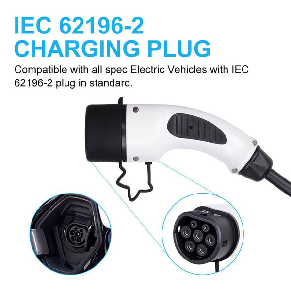 6M Level 2 Portable EV Charger EVSE 16A Type 2 - BougeRV