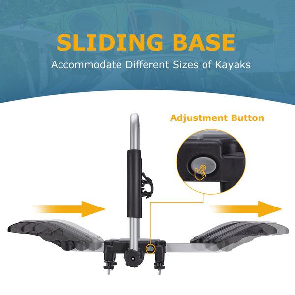 J-shaped cradle double-sided design kayak roof rack (One Pair)