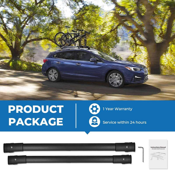 Car Roof Rack Cross Bars for 2014-2020 Subaru Forester, Aluminum Cross Bar - BougeRV