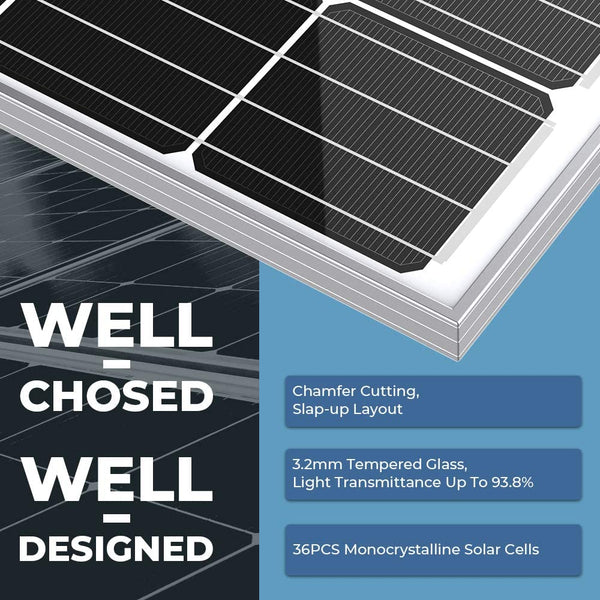 180W 12V Monocrystalline Solar Cell Charger (Delivery starts in Dec.) - BougeRV