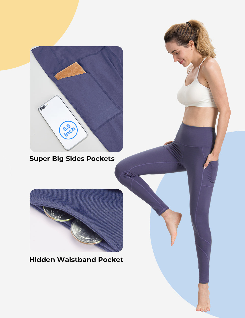 Violet Yoga pants - ALONGFIT