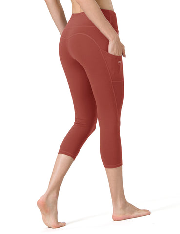 Colar Red Cropped Yoga Pants - ALONGFIT
