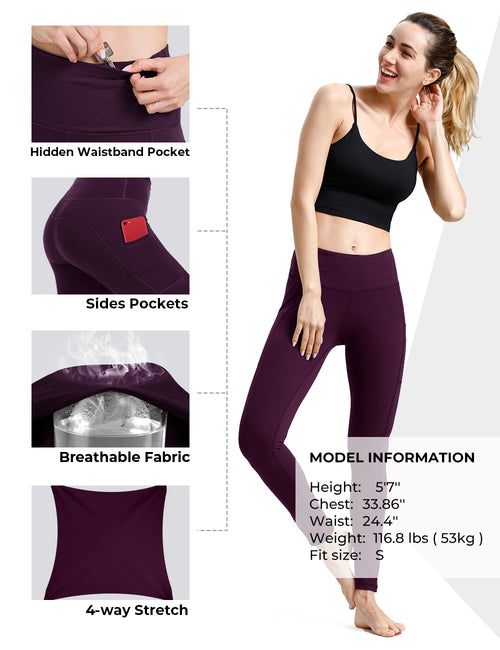 Mulberry yoga pants with pockets - ALONGFIT