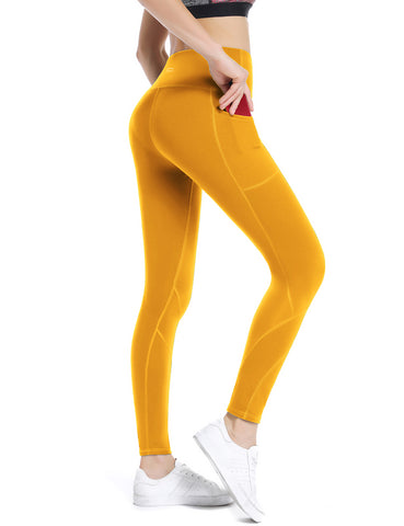 Yolk Yellow Yoga pants - ALONGFIT
