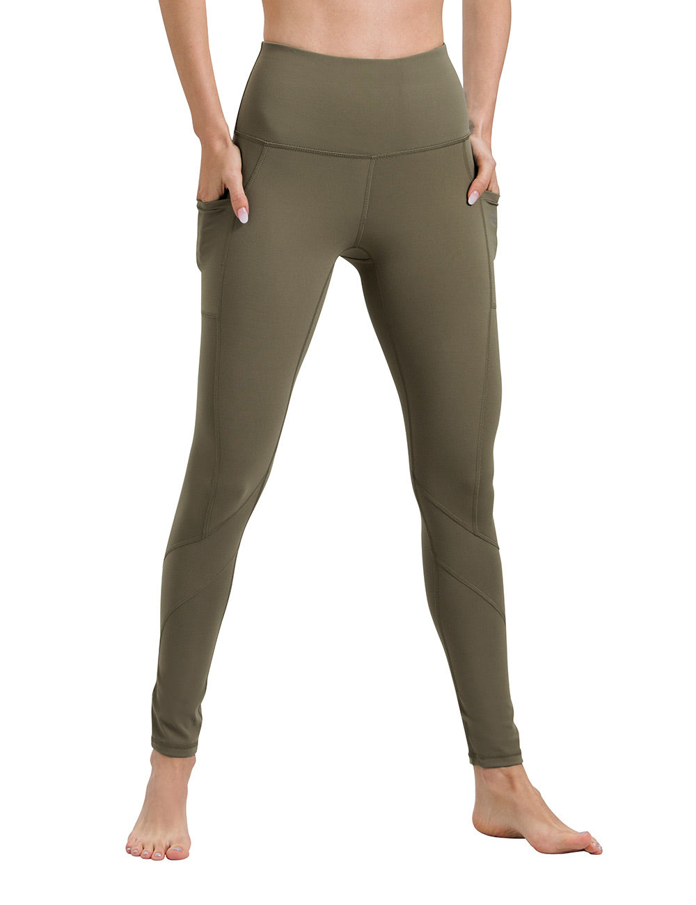 Olive Green Yoga Pants - ALONGFIT