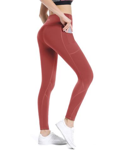 Coral Pink Yoga pants - ALONGFIT