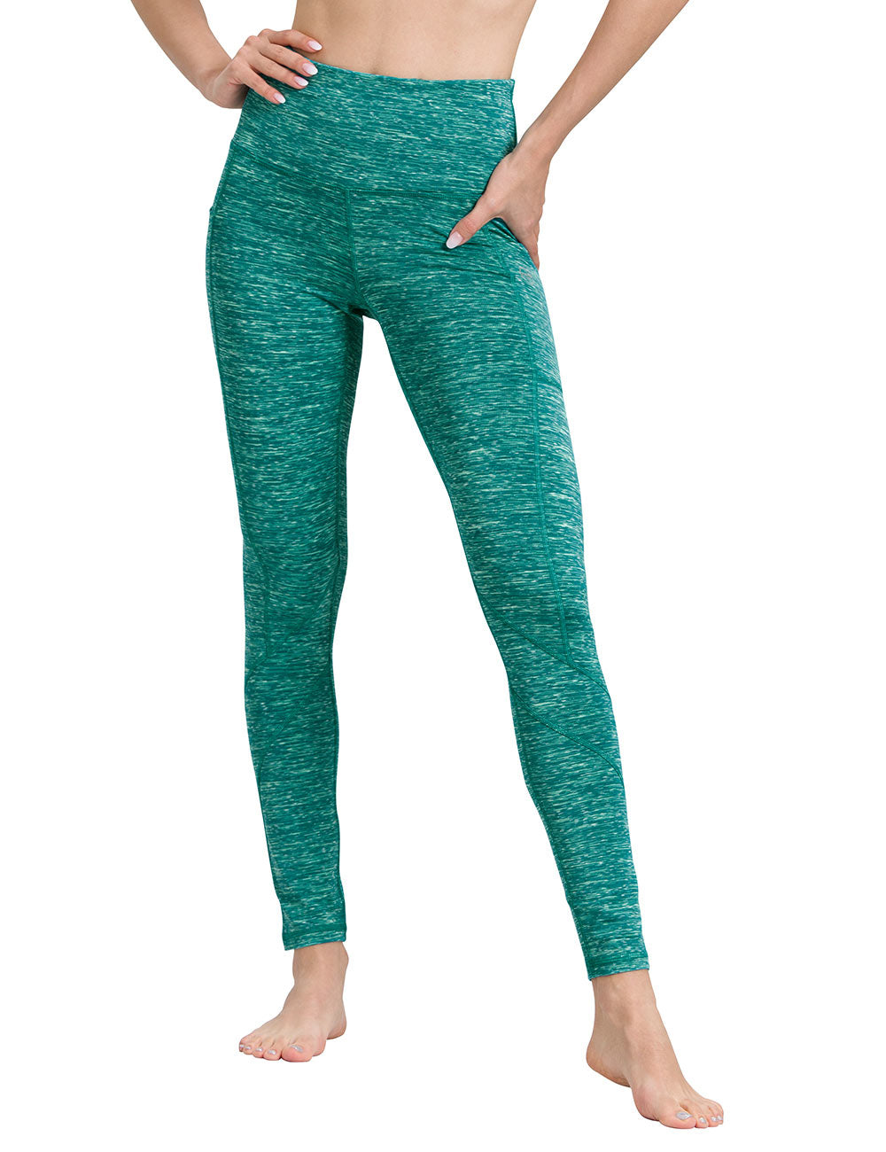 Space Green Yoga Pants - ALONGFIT