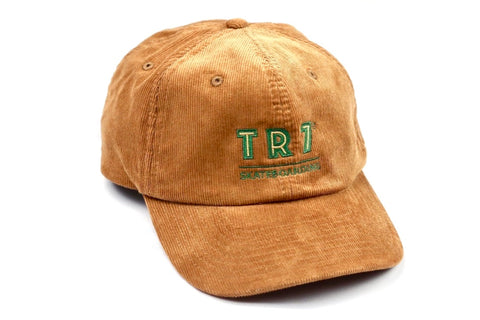 TR7 Caramel Corduroy Cap - TR7 SKATE | LOCAL SKATE SHOP IN NEWQUAY | SKATER OWNED