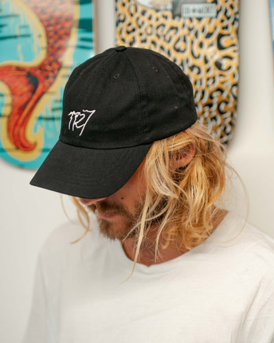 TR7 Black UV Logo Cap - TR7 SKATE | LOCAL SKATE SHOP IN NEWQUAY | SKATER OWNED