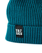 TR7 Ribbed Beanie - Aqua - TR7 SKATE | LOCAL SKATE SHOP IN NEWQUAY | SKATER OWNED