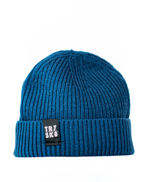 TR7 Ribbed Beanie - Royal Blue - TR7 SKATE | LOCAL SKATE SHOP IN NEWQUAY | SKATER OWNED