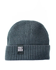TR7 Ribbed Beanie - Grey - TR7 SKATE | LOCAL SKATE SHOP IN NEWQUAY | SKATER OWNED