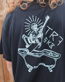 TR7 Whitelands Organic T-shirt - Black - TR7 SKATE | LOCAL SKATE SHOP IN NEWQUAY | SKATER OWNED