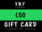 TR7 GIFT CARDS - TR7 SKATE | LOCAL SKATE SHOP IN NEWQUAY | SKATER OWNED