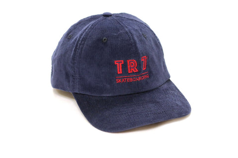 TR7 Blue Corduroy Cap - TR7 SKATE | LOCAL SKATE SHOP IN NEWQUAY | SKATER OWNED