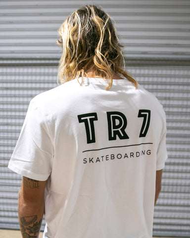 TR7 Team T-Shirt - White - TR7 SKATE | LOCAL SKATE SHOP IN NEWQUAY | SKATER OWNED