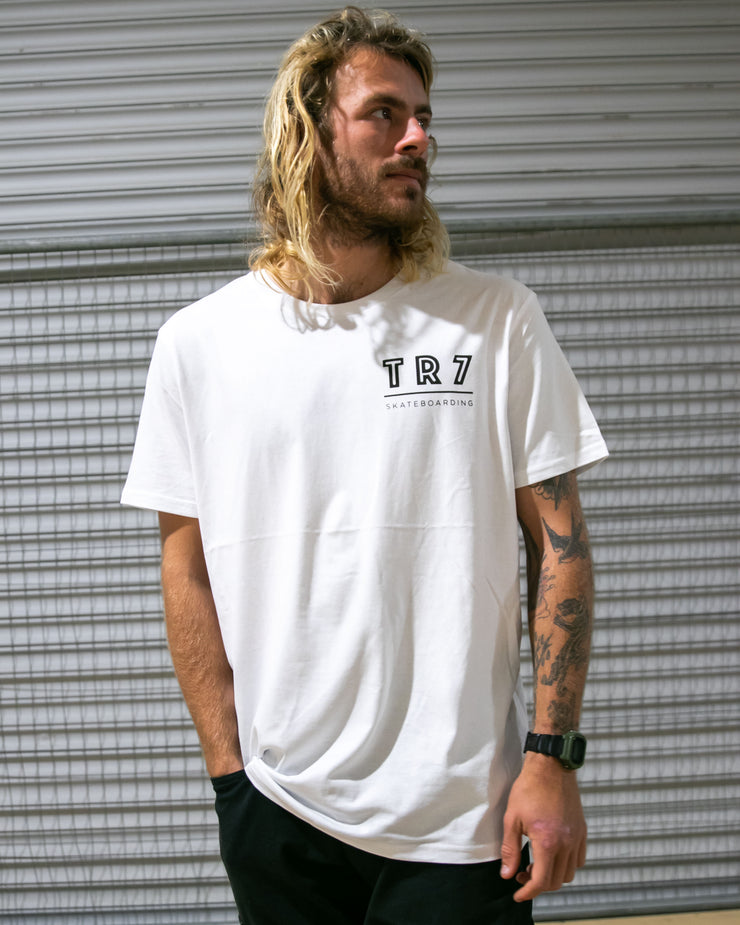 TR7 Team T-Shirt - White - TR7 SKATEBOARDING | LOCAL SKATE SHOP & INDOOR SKATEPARK IN NEWQUAY