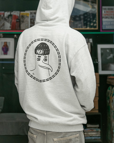 TR7 Seagull Hoody Grey - TR7 SKATE | LOCAL SKATE SHOP IN NEWQUAY | SKATER OWNED