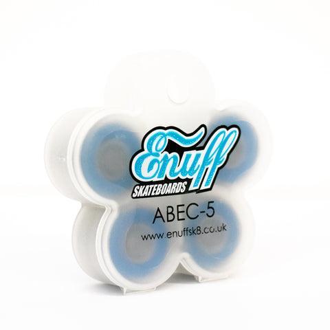 Enuff - Abec 5 Chrome Waterproof Bearings Blue - TR7 SKATE | LOCAL SKATE SHOP IN NEWQUAY | SKATER OWNED