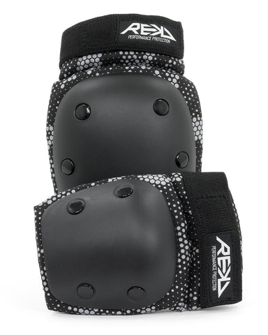 REKD Youth Heavy Duty Double Pad Set - Blk / Gry - TR7 SKATE | LOCAL SKATE SHOP IN NEWQUAY | SKATER OWNED