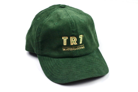TR7 Olive Corduroy Cap - TR7 SKATE | LOCAL SKATE SHOP IN NEWQUAY | SKATER OWNED