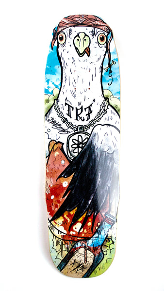 TR7 THUG SEAGULL GOTHIKA SKATEBOARD DECK 9.0 - TR7 SKATE | LOCAL SKATE SHOP IN NEWQUAY | SKATER OWNED