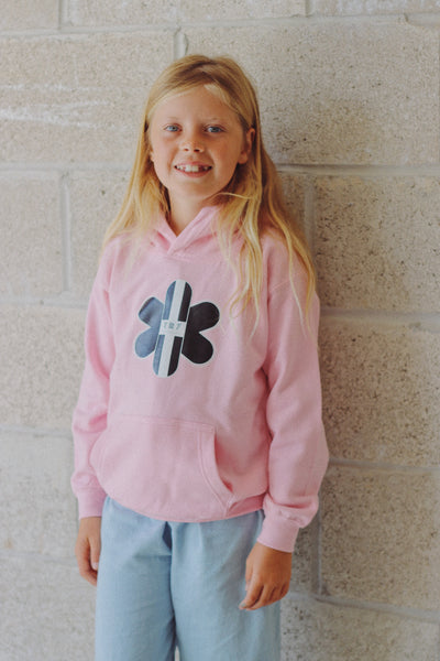 TR7 Classic Kids Hoodie Pink - TR7 SKATE | LOCAL SKATE SHOP IN NEWQUAY | SKATER OWNED