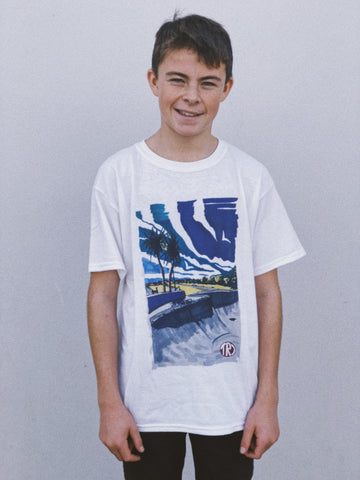 TR7 Concrete Waves Kids Tee - TR7 SKATE | LOCAL SKATE SHOP IN NEWQUAY | SKATER OWNED