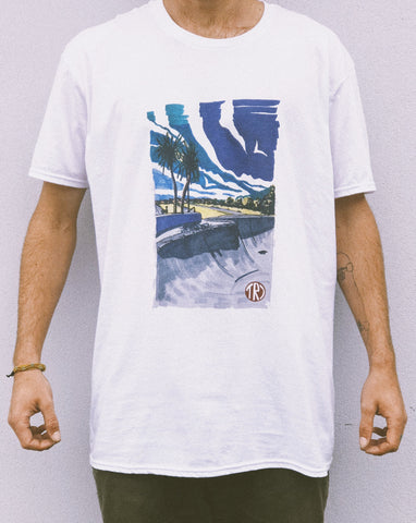 TR7 Concrete Waves Tee - TR7 Skateboarding