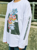 TR7 Cream Tea White Long Sleeve for Kids - TR7 SKATE | LOCAL SKATE SHOP IN NEWQUAY | SKATER OWNED