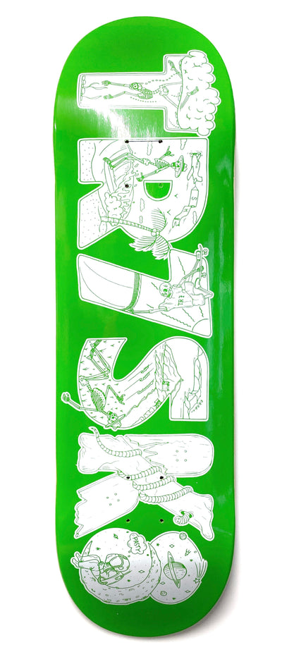 TR7 KERNOWFORNIA DECK NEON GREEN - TR7 SKATE | LOCAL SKATE SHOP IN NEWQUAY | SKATER OWNED
