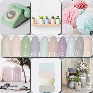 Collection vintage pastel