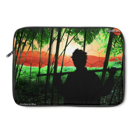 """Cultivating Bamboo on Mars"" Laptop Sleeve"