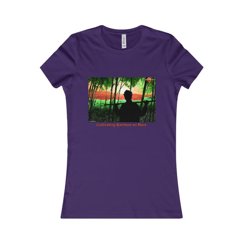 """Cultivating Bamboo on Mars"" Ladies T-shirt"