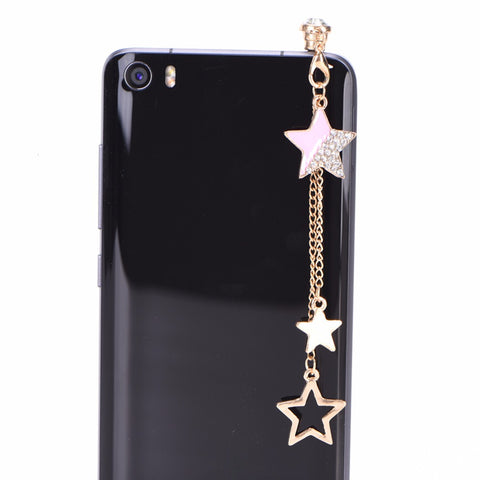 Star Pendant Chain Dustproof Headphone Plug - SpaceXcrew