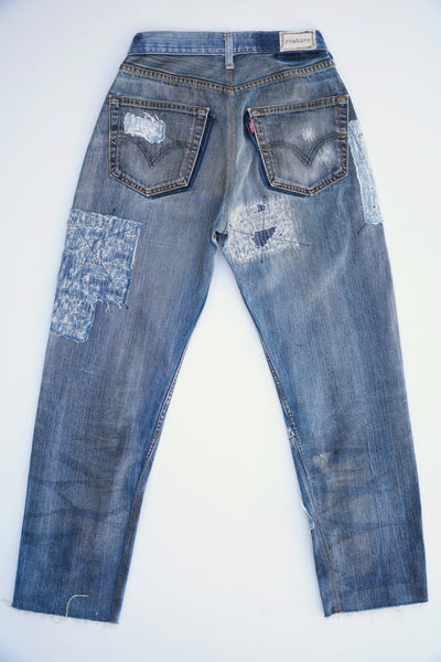 0024 High Rise Baggy Remade Jean