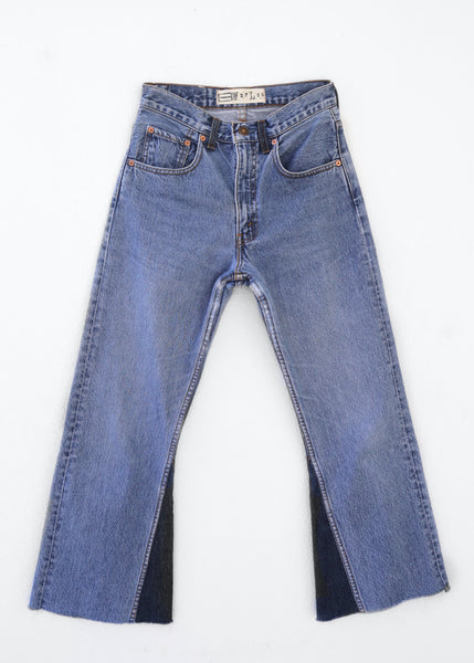0025 High Rise Flare Remade Jeans