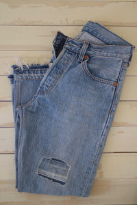 0019 High Rise Slim Fit Remade Jean