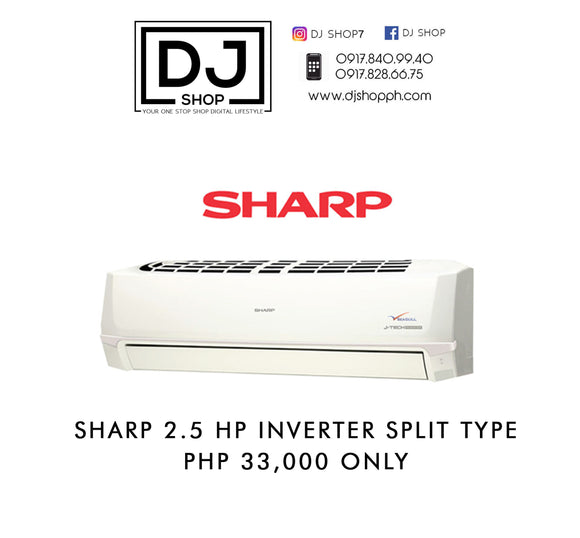 SHARP 2.5hp Split type INVERTER