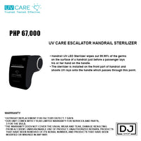 UV CARE ESCALATOR HANDRAIL STERILIZER