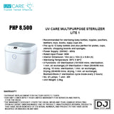 UV CARE MULTIPURPOSE STERILIZER LITE 1