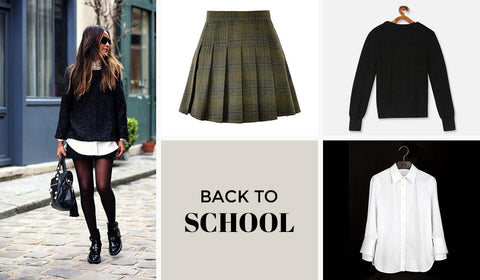 Pleated Skirt Paired With Shirt