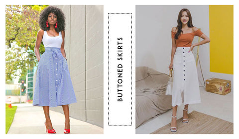 Buttoned Skirts