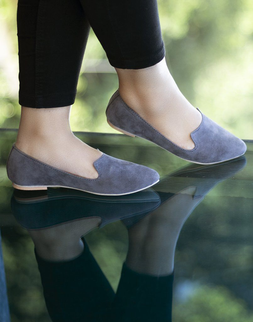 Getting Grey Ballet Flats