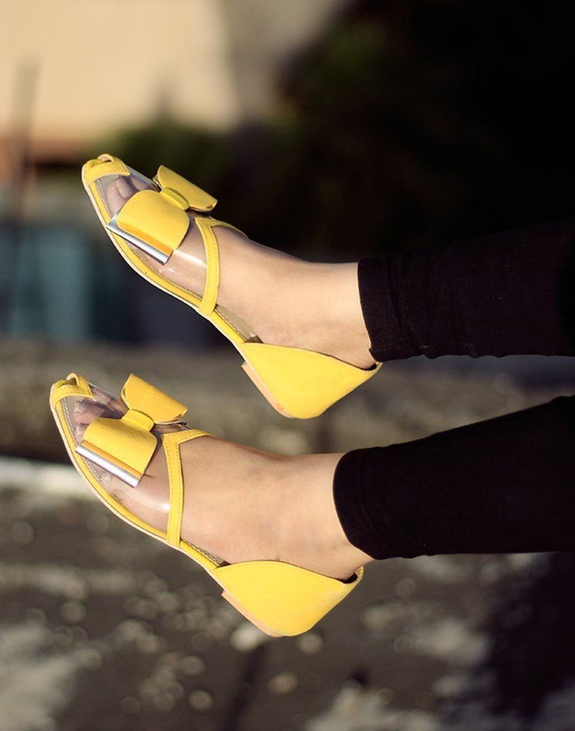 See Through Yellow Flats