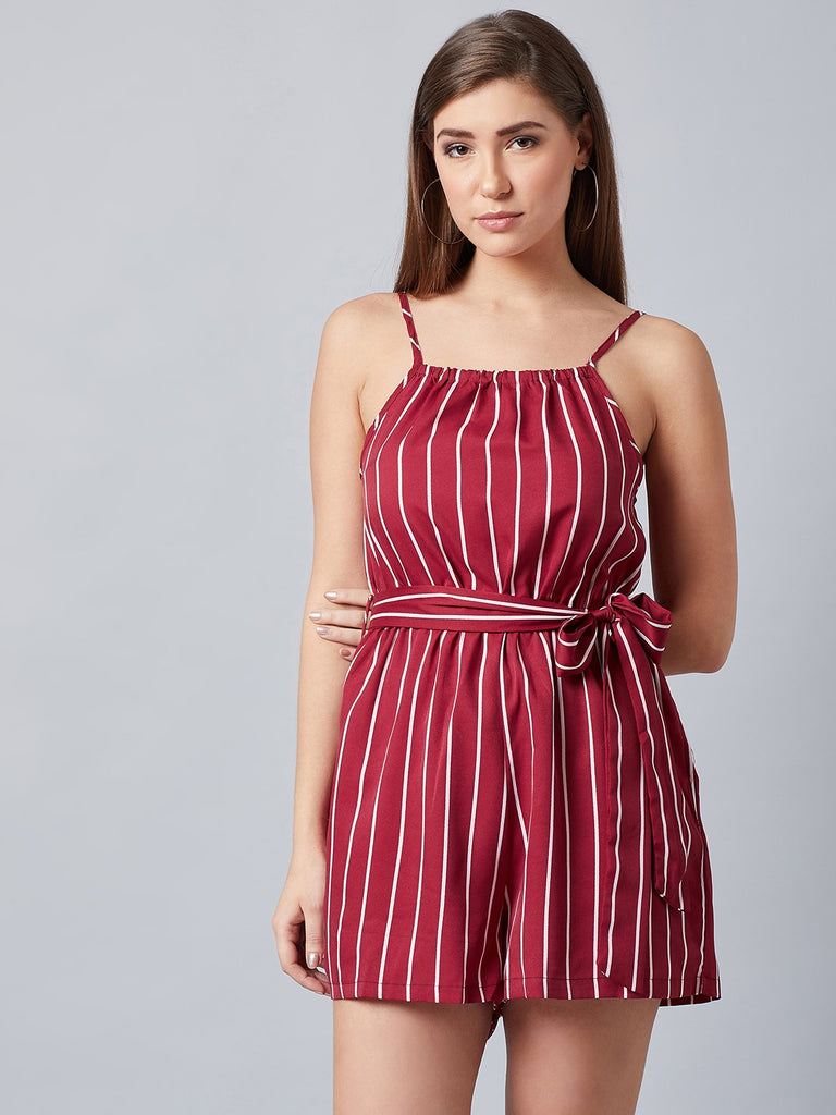 Rosewood Red Stripes Playsuit