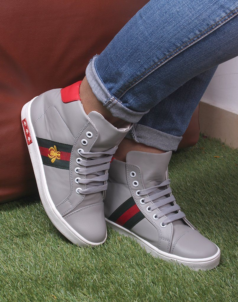 Kickass Grey Ankled Sneakers
