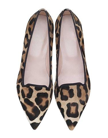 Animal Print Brown Flats